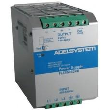 Flex Range Switching Power Supply - Input 400-500 Vac  Output 24V dc 25A (3 Phase) - Model FLEX50024B