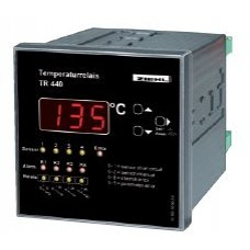 DIN96 Temperature-Relays for 4 Pt 100 Sensors and with 4 alarms / relays Digital Display, -199..850°C, AC/DC 24-240V Interface RS485 - Model:TR440 (Code T224185)